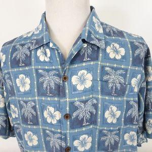 Tommy Bahama Large Hawaiian Shirt Floral Silk S/S